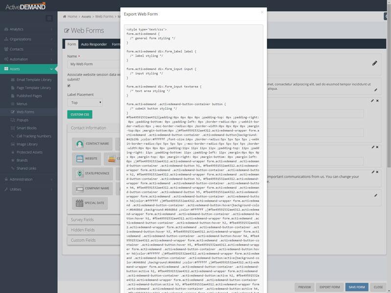 Web Capture Forms