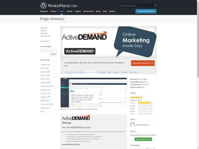 ActiveDEMAND Plugin for WordPress
