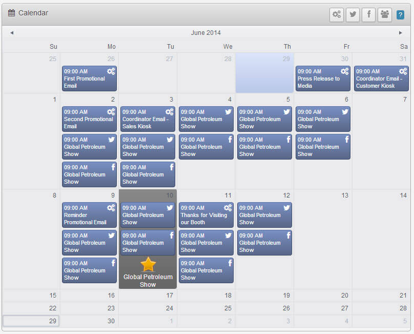 Integrated Marketing Calender