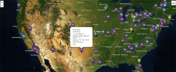 Mapa de visualización de correo electrónico